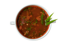 Soup isolated Stock Photography