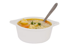 Soup isolated Stock Photos