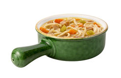 Chicken Noodle Soup isolated Stock Images