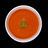 Soup isolated on black Stock Images