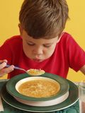 Soup kid. Stock Photos