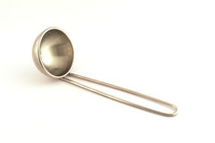 Soup ladle on white background Stock Images