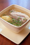 Soup with lamb meat Stock Photos