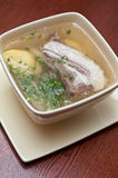 Soup with lamb meat Stock Images