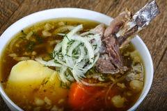 Soup with lamb Stock Photos