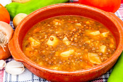 Soup of lentils Stock Images