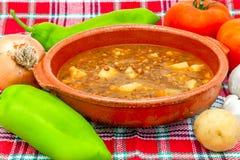 Soup of lentils Stock Photo