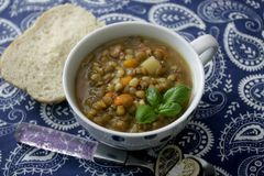 Soup of lentils Royalty Free Stock Images