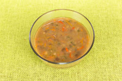 Soup with lentils Stock Images