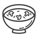 Soup line icon, food and drink, bowl sign Stock Photo
