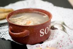 Soup made from fish Stock Photo