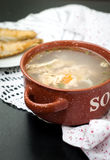 Soup made from fish. Ukha is a clear Russian soup, made from salmon Royalty Free Stock Photos