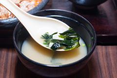 Soup made from seaweed Royalty Free Stock Photos