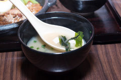 Soup made from seaweed Royalty Free Stock Photo