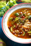 Soup with many vegetables Royalty Free Stock Photo
