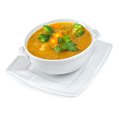 Soup of mashed with vegetables Stock Images