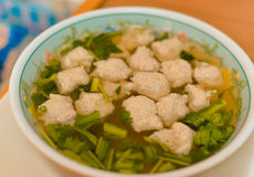Soup meat ball Royalty Free Stock Image