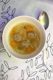 Soup with meat balls and carrot Stock Images