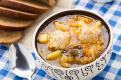 Soup with meat balls Royalty Free Stock Photography