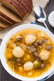 Soup with meat balls Stock Images