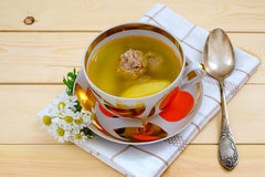 Soup with meat balls Royalty Free Stock Photo