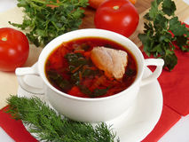 A  soup in meat broth Stock Photos