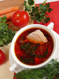 A  soup in meat broth Royalty Free Stock Photos