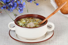Soup with meatball Royalty Free Stock Photo