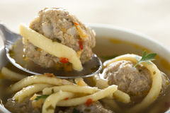 Soup with meatballs Stock Photos