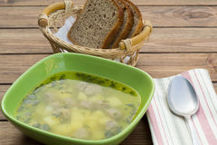 Soup with meatballs Royalty Free Stock Photography