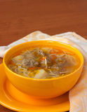 Soup with meatballs and noodles Stock Images