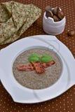 Soup med kastanjer Arkivbild