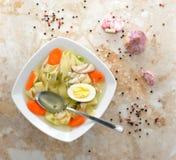 Soup med nudlar Arkivfoton