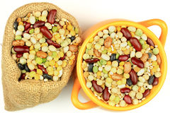 Soup Mix from fourteen legumes. Royalty Free Stock Photo