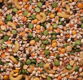 SOUP MIX! Textured Background Design - abstract patterns of seed. Mix or variety of lentils, beans, split peas, seeds, pasta etc as a textured background stock image