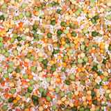 Soup mix from yellow and green peas Stock Photography