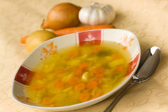 Soup with mixed vegetable , carrot , potato , pars Stock Photos