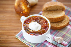 Soup with mushrooms Stock Images
