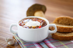 Soup with mushrooms Royalty Free Stock Images