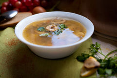 Soup with mushrooms Royalty Free Stock Image