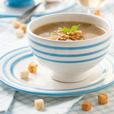 Soup with mushrooms Royalty Free Stock Photo