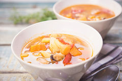 Soup with mussels Stock Photography