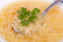 Soup with noodles Stock Image