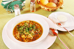 Soup with noodles Royalty Free Stock Photography