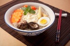 Soup Noodles Stock Photo