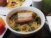 Soup noodles Royalty Free Stock Photo