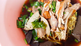 Soup noodles with duck Stock Photography