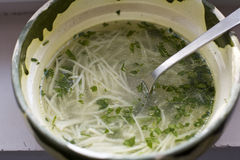 Soup with noodles Stock Photos