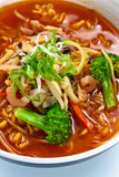 Soup with noodles . Korean cuisine. Royalty Free Stock Photo