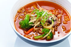 Soup with noodles . Korean cuisine. Stock Photography